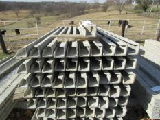 """(40) 4"""" x 4"""" x 8' ISC Precise Concrete Forms, Textured Brick 8"""" Hole Pattern, Located in"""