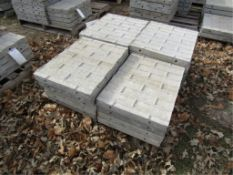 """(9) 18"""" x 2' Precise Concrete Forms, Textured Brick 8"""" Hole Pattern, Located in Winterset, IA"""