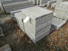 """(13) 24"""" x 2' Precise Concrete Forms, Textured Brick 8"""" Hole Pattern, Located in Winterset, IA"""