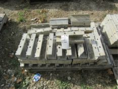 """(73) 1' CAP Precise Concrete Forms, (54) 4"""" x 4"""" x 1' Inside Corners, (8) 1' Hinged, (11) 1' Angles,"""