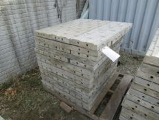 """(45) 36"""" x 1' Precise Concrete Forms, Textured Brick 8"""" Hole Pattern, Located in Winterset, IA"""
