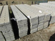 """(12) 12"""" x 8' Corners Precise Concrete Forms, Textured Brick 8"""" Hole Pattern, Located in"""