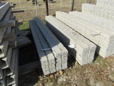 """(22) 4"""" x 8' Precise Concrete Forms, Textured Brick 8"""" Hole Pattern, Located in Winterset, IA"""