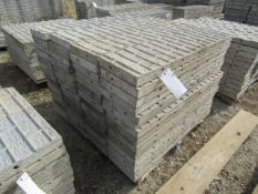 """(60) 12"""" x 4' Corners Precise Concrete Forms, Textured Brick 8"""" Hole Pattern, Located in"""