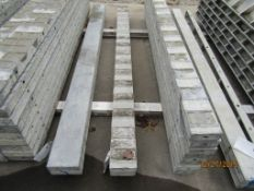 """(2) 6"""" x 8' Durand Concrete Forms, Textured Brick 8"""" Hole Pattern, Located in Mt. Pleasant, IA"""