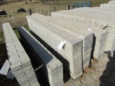 """(12) 8"""" x 8' Jumps Precise Concrete Forms, Textured Brick 8"""" Hole Pattern, Located in Winterset, IA"""