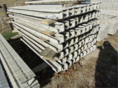 """(30) 4"""" x 4"""" x 8' ISC Precise Concrete Forms, Textured Brick 8"""" Hole Pattern, Located in"""