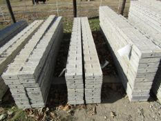 """(14) 7"""" x 8' Precise Concrete Forms, Textured Brick 8"""" Hole Pattern, Located in Winterset, IA"""