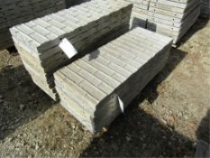 """(6) 18"""" x 4' Precise Concrete Forms, Textured Brick 8"""" Hole Pattern, Located in Winterset, IA"""