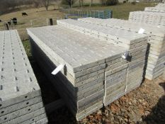 """(13) 16"""" x 8' Precise Concrete Forms, Textured Brick 8"""" Hole Pattern, One of them is damaged,"""
