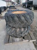 "(2) Goodyear IT525 19.5 L-24 Tire & 11 "" with 10 Bolt Pattern Rim"