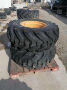 """(2) Firestone 19.5L-24 Tire & 11 """" with 10 Bolt Pattern Rim"""