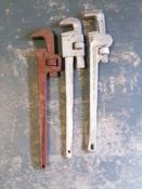 (3) Straight Pipe Wrench