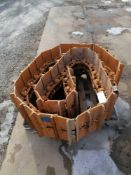 """(1) 20"""" Grouser/Chain Assy. - Open Grouser, Master link is removed from this chain"""
