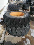 "(2) Goodyear 17.5L-24 Tire & 11 "" with 10 Bolt Pattern Rim"