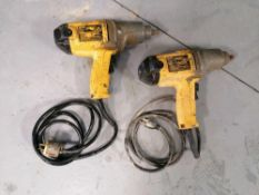 (2) Dewalt DW290 Corded Electric Impact Wrench