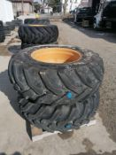 """(2) Solideal 17.5L-24IND Tire &11 """" with 10 Bolt Pattern Rim"""