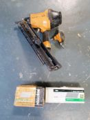 (1) Bostitch Paper Tape Framing Nailer & (2) Boxes of Angled Finish Nails