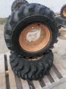 (2) Samson Premium Skid Steer 12-16.5 NHS Tire & Rim