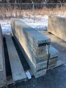 """(15) 10"""" x 9' Symons Silver Aluminum Concrete Forms"""
