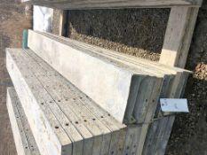 """(9) 12"""" x 9' Symons Silver Aluminum Concrete Forms"""
