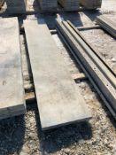 """(1) 20"""" x 9' Symons Silver Aluminum Concrete Forms"""