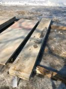 """(2) 16"""" x 9' Symons Silver Aluminum Concrete Forms"""
