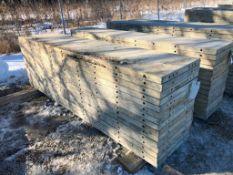 """(15) 24"""" x 9' Symons Silver Aluminum Concrete Forms"""