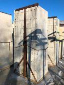 """(16) 36"""" x 9' Symons Silver Aluminum Concrete Forms"""