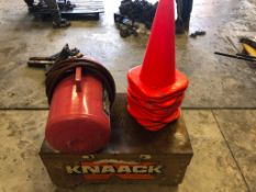 Knaack Tool Box, Air Pig & Safety Cones