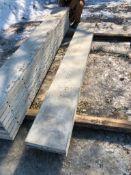 """(2) 14"""" x 9' Symons Silver Aluminum Concrete Forms"""