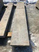 """(2) 18"""" x 9' Symons Silver Aluminum Concrete Forms"""