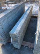 """(11) 8"""" x 9' Symons Silver Aluminum Concrete Forms"""