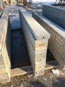"""(15) 7"""" x 9' Symons Silver Aluminum Concrete Forms"""