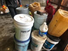 Pallet of Miscellaneous Buckets Cleaners