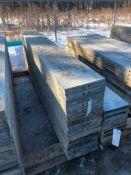 """(15) 14"""" x 9' Symons Silver Aluminum Concrete Forms"""