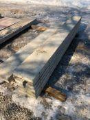 """(7) 12"""" x 9' Symons Silver Aluminum Concrete Forms"""