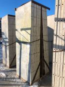 """(13) 36"""" x 9' Symons Silver Aluminum Concrete Forms"""