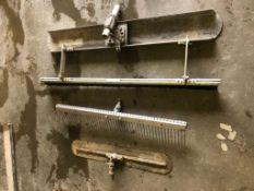 (1) Screed Board & (2) Concrete Racks