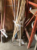 Assorted Concrete Rakes & Scrapers