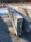 """(16) 9"""" x 9' Symons Silver Aluminum Concrete Forms"""