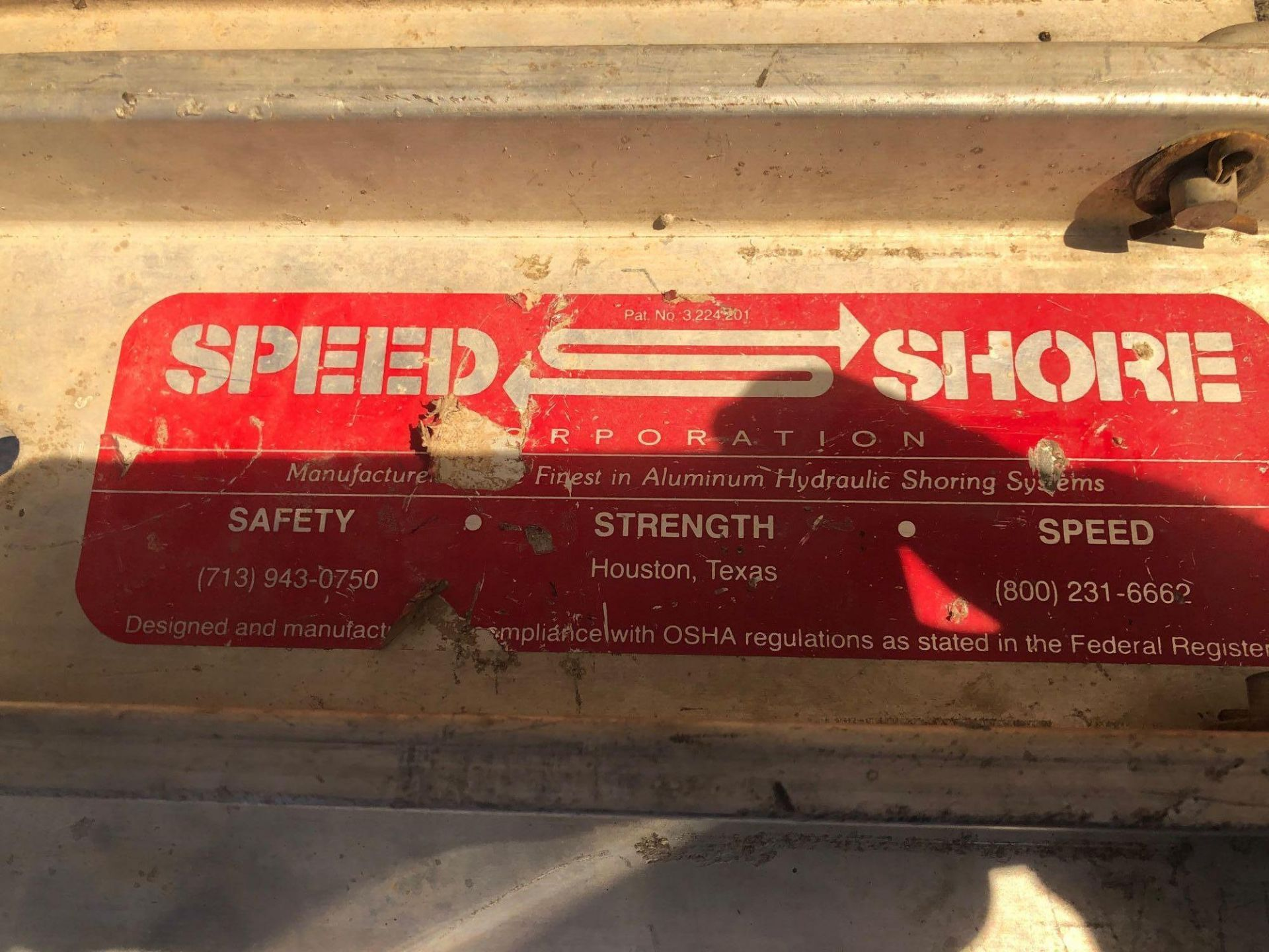 Lot 412 - Speed Shore Hydraulic Trench Shoring with Pump