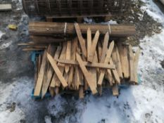 Pallet of Wood Stakes & Lath