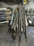 Fence Post Stakes & Rolls of Silt Fence