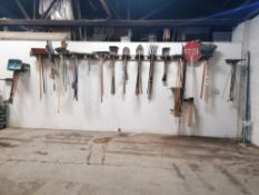 Wall of Miscellaneous Yard Tools