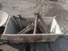 Wheeled Mortar Box, Mason Wheel barrows & Scaffolding Outriggers
