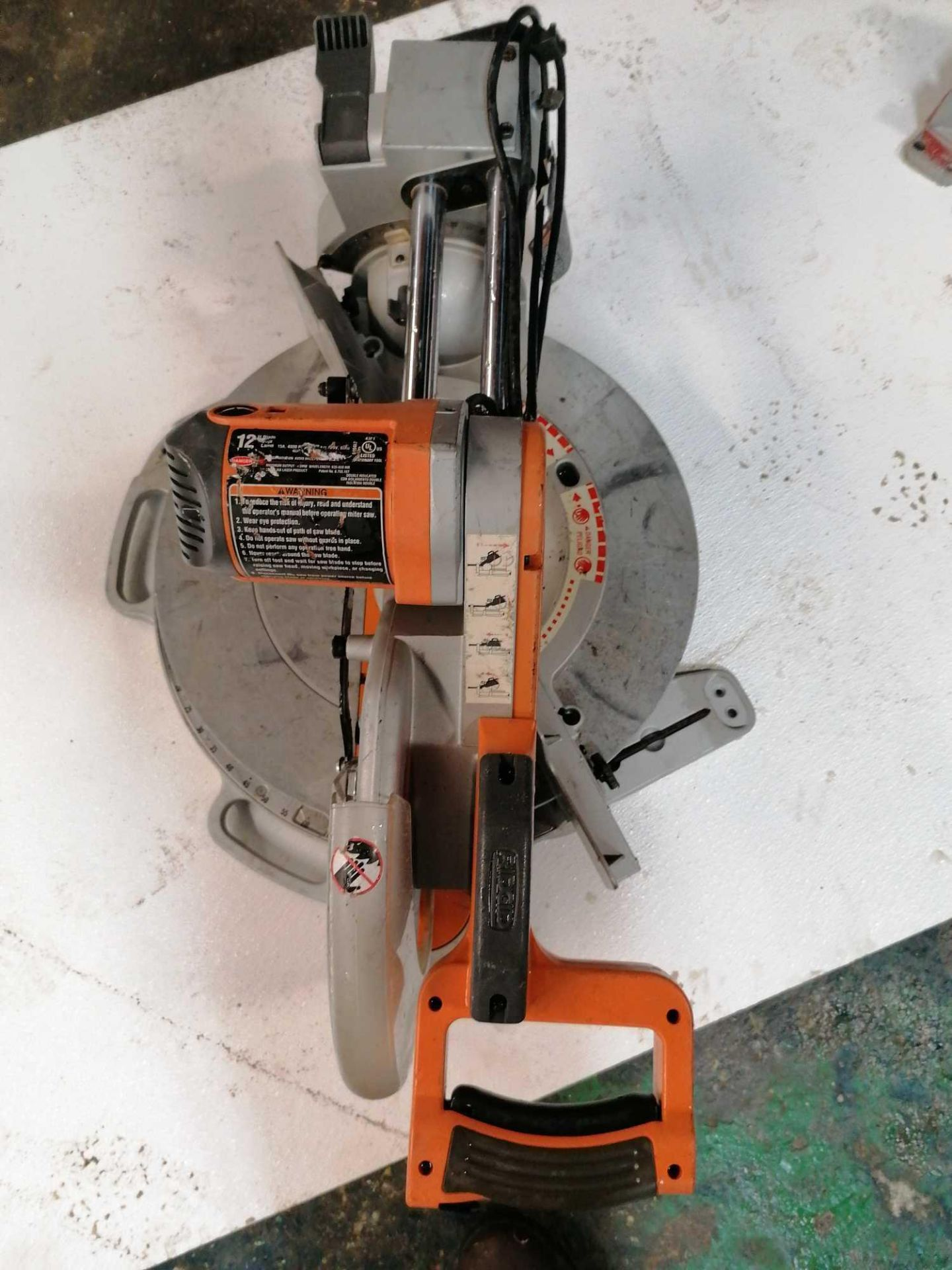 "Lot 13 - Rigid 12"" Compound Sliding Miter Saw"