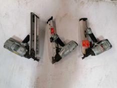 (3) Hitachi Staple Nailers