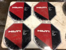 "(4) NEW Hilti 14""x1"" Diamond Blades"