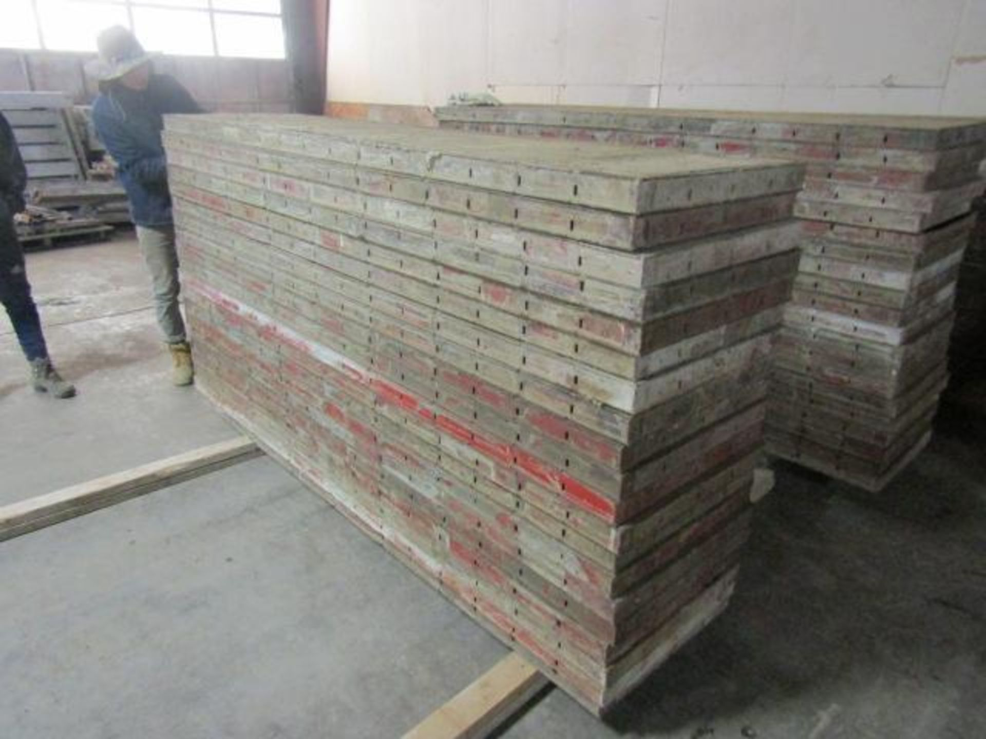 """Lot 156 - (20) 24"""" x 8' Symons Steel Ply Forms"""